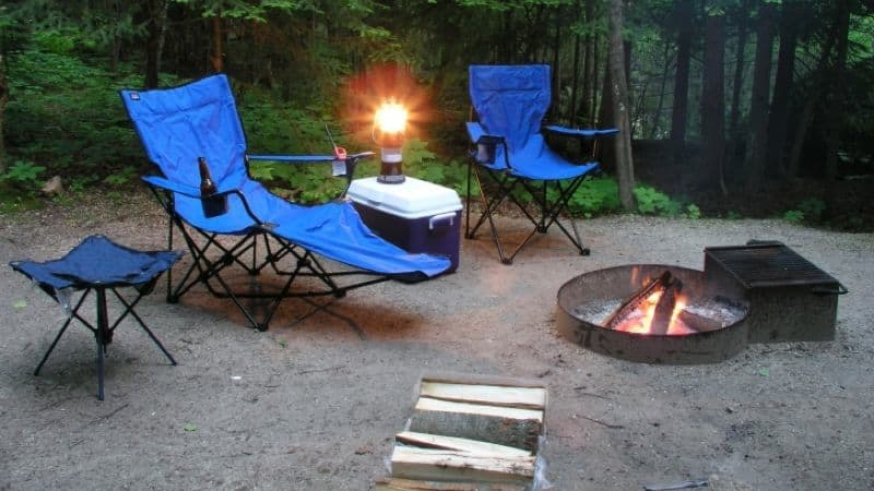 Unattended campfire
