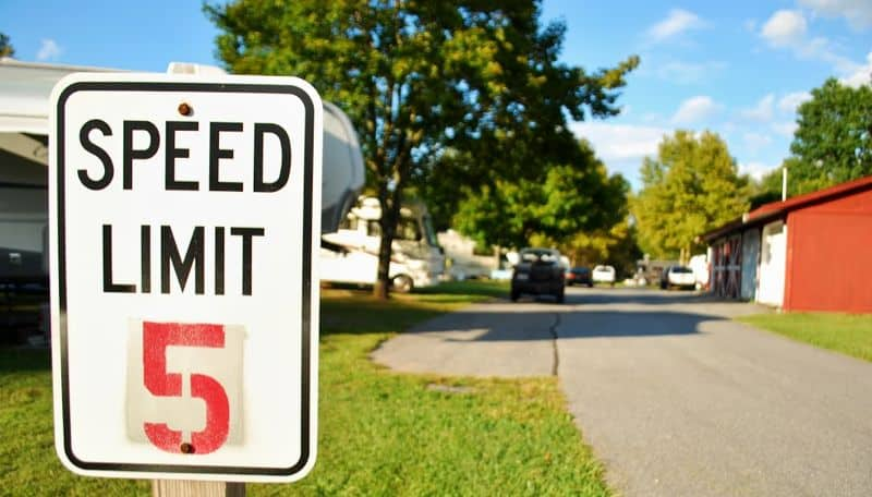 Follow Campground Speed Limits