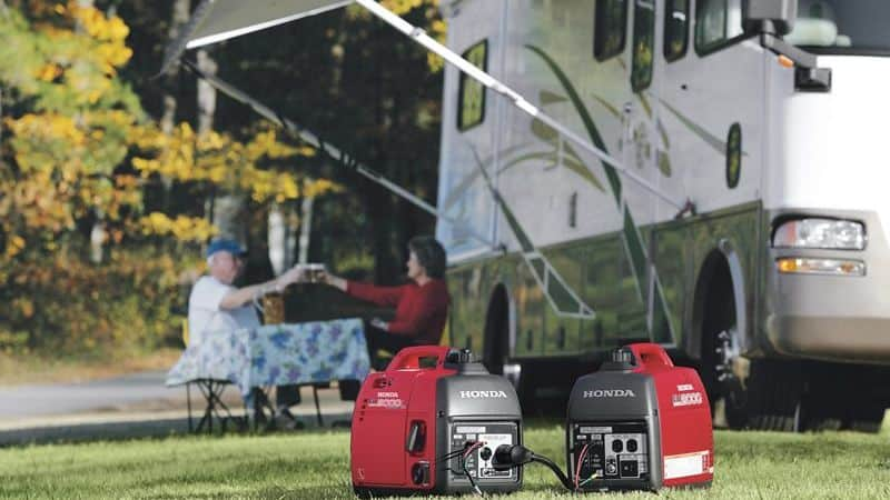Camping with a Generator